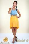 CM0300 Zwiewna cieniowana sukienka pasek gratis - model 6 w sklepie internetowym Cudmoda