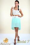 CM0300 Zwiewna cieniowana sukienka pasek gratis - model 7 w sklepie internetowym Cudmoda