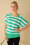 CM0077 Luźna bluzeczka w pasy + top bokserka - zielona w sklepie internetowym Cudmoda