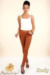 CM0133 Włoskie spodnie rurki legginsy z zamszu - rude w sklepie internetowym Cudmoda