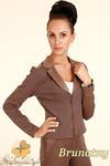 CM0318 Żakiet kurtka damska z zamszu - brunatny w sklepie internetowym Cudmoda