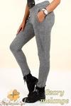 CM0322 Legginsy spodnie dresowe - szare melanżowe w sklepie internetowym Cudmoda