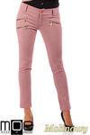 CM0336 Eleganckie spodnie rurki złote zamki - malinowe w sklepie internetowym Cudmoda