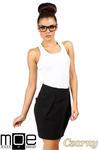 CM0346 Mini spódniczka tulipan z kieszeniami - czarna w sklepie internetowym Cudmoda