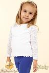 MA027 Dziewczęca bluzeczka z koronkowym rękawem w sklepie internetowym Cudmoda