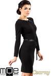 CM0333 Sukienka ołówkowa z ćwiekami - czarna w sklepie internetowym Cudmoda