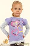 MA025 Dziewczęca bluzeczka z serduszkami - fioletowa w sklepie internetowym Cudmoda