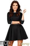 CM0355 Elegancka sukienka rozkloszowana z koła - czarna w sklepie internetowym Cudmoda