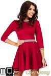 CM0355 Elegancka sukienka rozkloszowana z koła - czerwona w sklepie internetowym Cudmoda