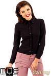 CM0369 Koszula damska z ćwiekami - czarna w sklepie internetowym Cudmoda