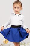 MA009 Klasyczna bluzeczka dla dziewczynki z koronką - biała 2 w sklepie internetowym Cudmoda