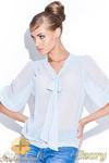 CM0398 FIGL M115 Szyfonowa bluzka damska kokarda - szara w sklepie internetowym Cudmoda