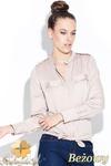 CM0429 KATRUS K004 Koszula damska z pagonami i skójką - beżowa w sklepie internetowym Cudmoda