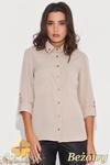 CM0430 KATRUS K059 Koszula damska ze złotymi ćwiekami - beżowa w sklepie internetowym Cudmoda