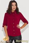 CM0430 KATRUS K059 Koszula damska ze złotymi ćwiekami - bordowa w sklepie internetowym Cudmoda