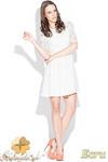 CM0463 KATRUS K003 Koronkowa sukienka rozkloszowana - ecru w sklepie internetowym Cudmoda
