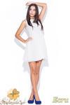 CM0464 KATRUS K007 Koronkowo - tiulowa sukienka bez rękawków - ecru w sklepie internetowym Cudmoda