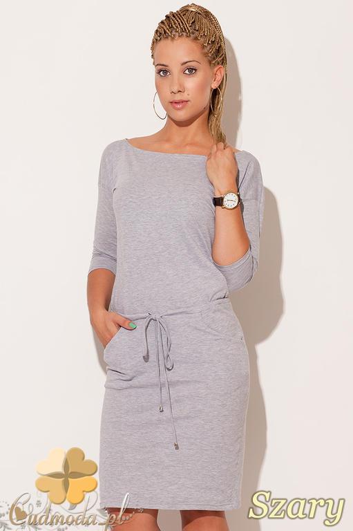 7b2a20fe41 CM0500 FIGL M203 Bawełniana sukienka w sportowym stylu - szara w sklepie  internetowym Cudmoda. Powiększ zdjęcie