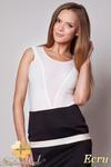 CM0506 FIGL M198 Kobiece body z dekolt z przezroczystej tkaniny - ecru w sklepie internetowym Cudmoda