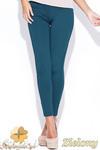 CM0511 KATRUS K044 Spodnie damskie rurki dopasowane do figury - zielone w sklepie internetowym Cudmoda