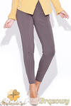 CM0511 KATRUS K044 Spodnie damskie rurki dopasowane do figury - brązowe w sklepie internetowym Cudmoda