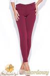CM0511 KATRUS K044 Spodnie damskie rurki dopasowane do figury - bordowe w sklepie internetowym Cudmoda