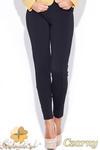 CM0511 KATRUS K044 Spodnie damskie rurki dopasowane do figury - czarne w sklepie internetowym Cudmoda