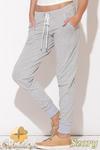 CM0513 KATRUS K095 Dresowe spodnie damskie z bawełny - szare w sklepie internetowym Cudmoda