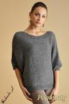 WYCOFANY Luźny sweter nietoperz w sklepie internetowym Cudmoda