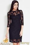 CM0618 AWAMA S17 Koronkowa sukienka z halką - czarna w sklepie internetowym Cudmoda
