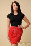 CM0066 Mini spódnica spódniczka ołówkowa tulipan - czerwona w sklepie internetowym Cudmoda