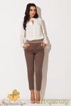 CM0655 KATRUS K131 Pikowane spodnie damskie nogawka 7/8 - brązowe w sklepie internetowym Cudmoda