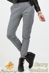 CM0682 Sportowe legginsy spodnie damskie ze ściągaczami - szary melanż w sklepie internetowym Cudmoda