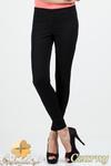 CM0685 Jeansowe legginsy spodnie rurki - czarne w sklepie internetowym Cudmoda