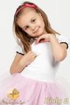 MA016 Gładka dziewczęca bluzeczka z koronką - biały 2 w sklepie internetowym Cudmoda