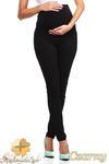 CM0729 Ciążowe jeansowe legginsy spodnie z elastycznym pasem - czarne w sklepie internetowym Cudmoda