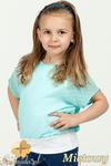 MA021 Dziewczęca bluzka nietoperz + bokserka - miętowa w sklepie internetowym Cudmoda