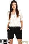 CM0765 Dresowe szorty damskie z kieszeniami - czarne OUTLET w sklepie internetowym Cudmoda