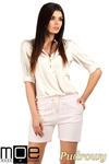 CM0765 Dresowe szorty damskie z kieszeniami - pudrowe OUTLET w sklepie internetowym Cudmoda