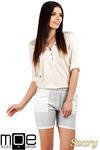 CM0765 Dresowe szorty damskie z kieszeniami - szare OUTLET w sklepie internetowym Cudmoda