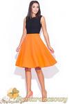 CM0436 KATRUS K055 Spódnica z koła fason litery A - pomarańczowa -20% w sklepie internetowym Cudmoda