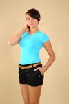 CM0104 Krótkie spodenki szorty z zameczkami - czarne w sklepie internetowym Cudmoda