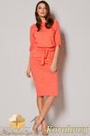 CM0693 FIGL M246 Zwiewna sukienka wiązana w pasie - koralowa -20% w sklepie internetowym Cudmoda