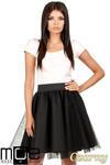 CM0782 Tiulowa spódnica z koła na podszewce - czarna w sklepie internetowym Cudmoda