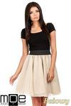 CM0782 Tiulowa spódnica z koła na podszewce - beżowa w sklepie internetowym Cudmoda