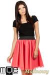 CM0782 Tiulowa spódnica z koła na podszewce - malinowa w sklepie internetowym Cudmoda