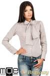 CM0787 Oryginalna koszula w kratkę z kokardą i długim rękawem - brązowa w sklepie internetowym Cudmoda