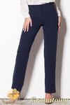 CM0795 FIGL M257 Eleganckie spodnie damskie z prostymi nogawkami - granatowe w sklepie internetowym Cudmoda