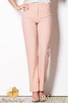 CM0795 FIGL M257 Eleganckie spodnie damskie z prostymi nogawkami - różowe w sklepie internetowym Cudmoda