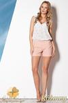 CM0796 FIGL M258 Eleganckie szorty damskie o klasycznym kroju - różowe w sklepie internetowym Cudmoda